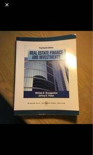 Real estate finance and investments (Brueggerman and Fisher)