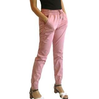 Pink Cuffed Chinos