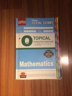 O Level Mathematics EPH Topical TYS (2007-2016)