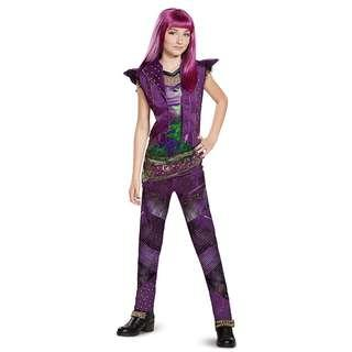Disney Mal Classic Descendants 2 Costume (no wig) for Girls Kids Birthday party Christmas gift