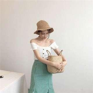 Flare sleeves white top