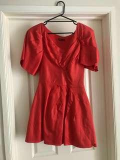 Maticevski - Red- Orange Couture Dress size 10