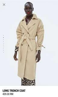 Bnwt zara new arrival trench coat