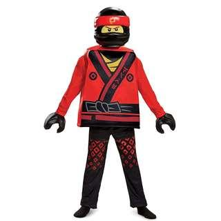 Officially Licensed Kai LEGO Ninjago Movie Deluxe Costume for Boys Kids birthday party gift