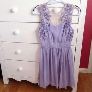 ASOS Petite Pastel Lilac Dress