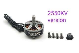 4 PCS RCINPOWER EX2306 2550KV 3-5S CW Thread FPV Racing Brushless Motor for RC DroneTitanium