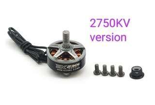 4 PCS RCINPOWER EX2306 2750KV 3-4S CW Thread FPV Racing Brushless Motor for RC DroneTitanium