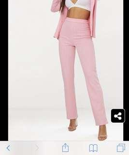 Pink straight leg pant