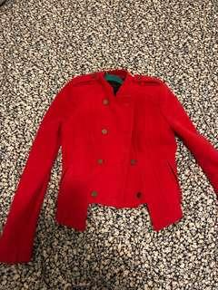 BCBG red jacket