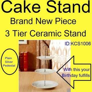 Ceramic -  Cake / Fruit Stand