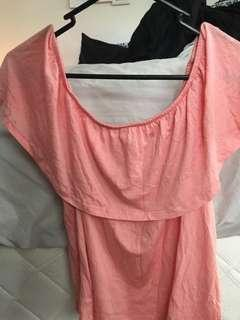 Factorie size M, peachy pink off the shoulder top