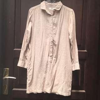 Uniqlo Shirtdress ( Preloved )