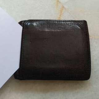 (Sold) Vintage Fossil 1954 Leather Wallet Slot Card Front