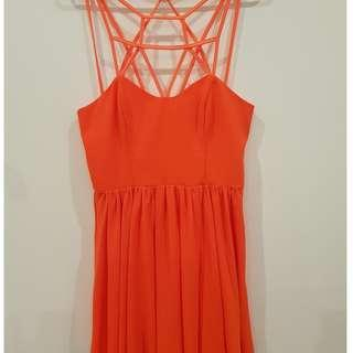 KEEPSAKE THE LABEL: Burnt Orange Dress
