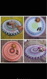Mandala bohemian tapestry picnic cloth