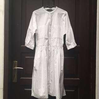 Preloved White shirtdress