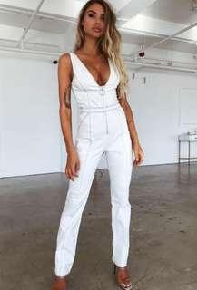 tigermist ava jumpsuit in white