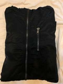 H&M長版風衣外套