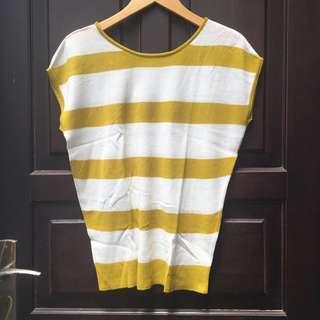 Stripe Top Yellow ( Preloved )