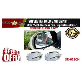 Silver 50mm 360 Rotation Adjustable Car Suv Truck Blind Spot Side Mirror x2
