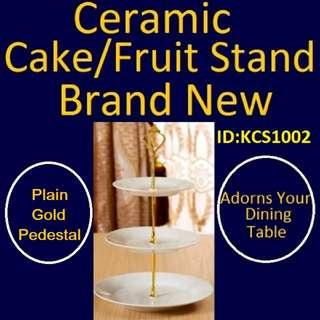 Cake Stand / Fruit Stand - Ceramic Stand - Brand New Piece