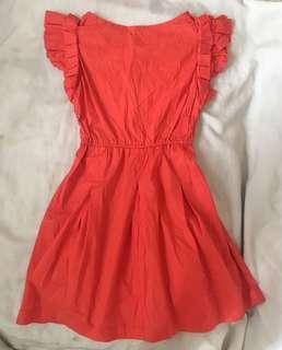Red-orange cocktail dress