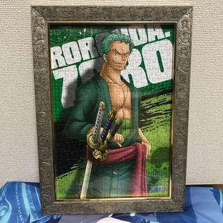 Zoro and Ace Puzzle with frame