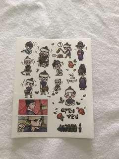 exo DO fanart stickers