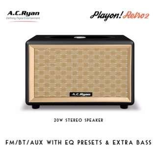 AC Ryan Playon! Retro 2 BT/FM Speaker