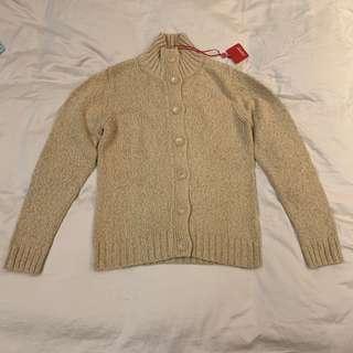 Esprit size L Large light brown knitwear cardigan knitted jacket 淺啡色冷衫外套 BNIB