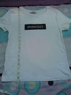 Mango Ribbed Top Tshirt Tee