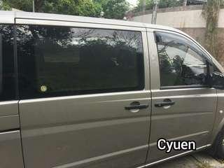 Benz Vito 防曬隔熱磁石窗網