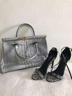 Crocodile Handbag & Snake Heels