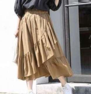 日牌ruffle skirt