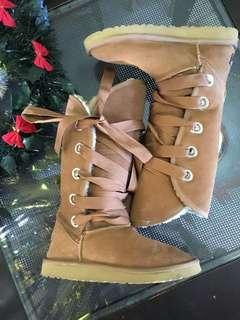 Ugg Roxy Tall Lace Up Boots in Chestnut  38