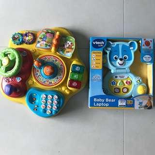 Both for $40 VTech magic Star Learning Activity Table and Brand New VTech Baby Bear Laptop