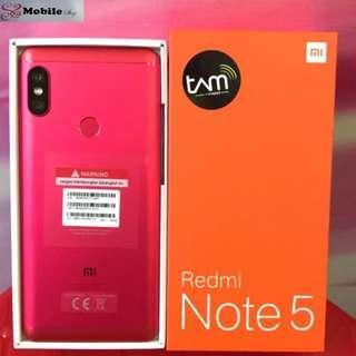 Xiaomi Redmi Note 5 Smartphone Red Promo 0% Cicilan Mudah