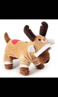 Size XL Reindeer onesie for dog or cat