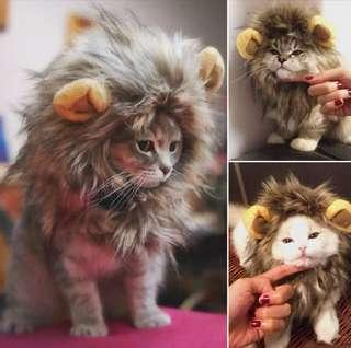 Pet Costume Lion Mane Wig For Cat Dress Up With Ears Festival Party