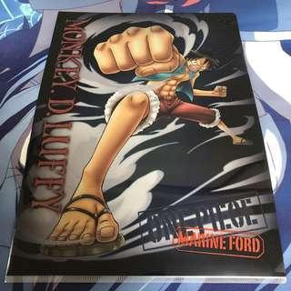 One Piece Clear File Folder
