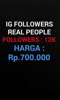 Followers IG real people 12k