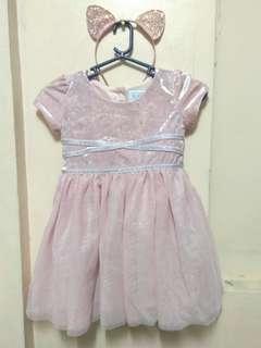 Pink Dress with Headband