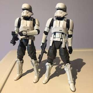 "set of 2: 6"" Star Wars Rogue One Black Series Imperial Hovertank Pilot"