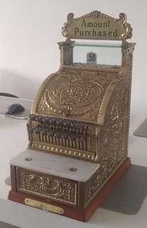 Vintage National Cash Register Brass