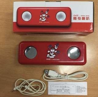 Coca Cola x James Jarvis Limited Edition Portable Speaker 可口可樂紀念品 小喇叭 隨身喇叭 125年開動快樂