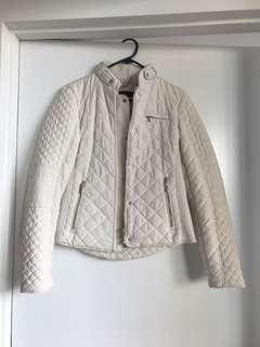 ZARA White Puffer Jacket