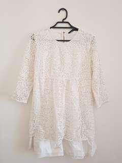 Zara Woman Mini Lace Dress