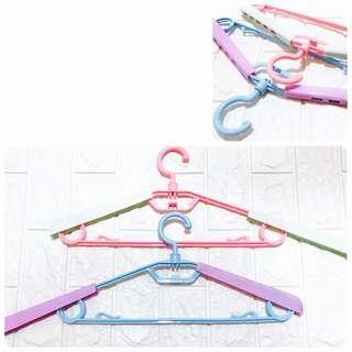 🚚 【三個ㄧ組】衣架 撞色成人伸缩衣架 可調節式衣架
