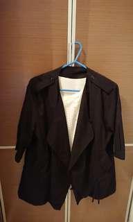 女裝 中袖外套連短袖一set