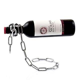 紅酒架 鐵鏈造型 鐵鍊酒樽架 香檳架 Metal Chain Red White Wine Champagne Bottle holder